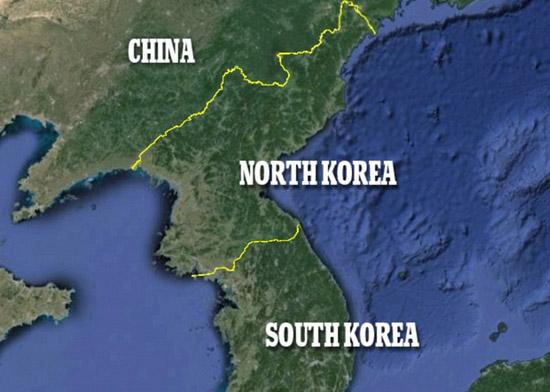 朝鲜半岛夜晚灯光对比明显 南边灯火通明北边漆黑2