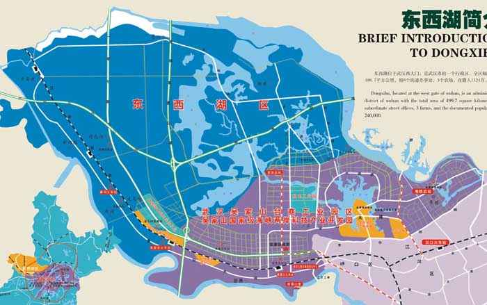 武汉东西湖区地图