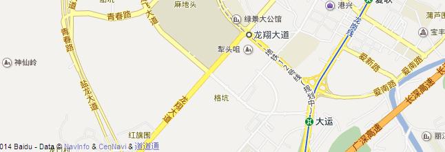 香港中文大学(深圳)地图位置