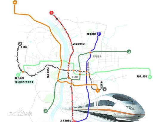 长沙地铁2号线路图 长沙地铁线路图大全