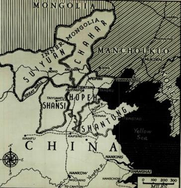 1937年,中国北京及周边地图